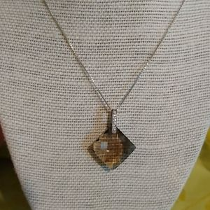 Jewelry - Sterling Silver Faceted Smoky Quartz Pendant